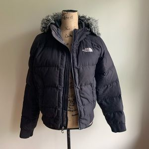 The North Face black puffer jacket coat size M